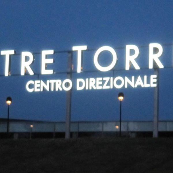 insegne a lettere scatolate a Brescia, Treccani Pubblicità